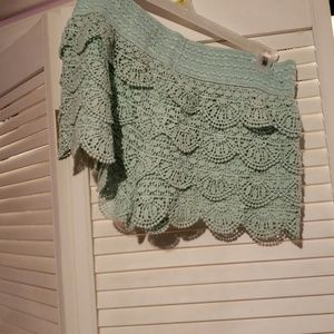 Pants - Boho Mint Green Shorts